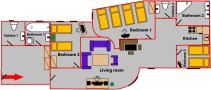 Magda Accommodation Services - 407 Floor plan