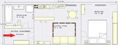 Elysee Apartments - Elysee Apartment Floor plan