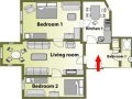 Dlouha Apartments - Apartment B (2+1) Floor plan