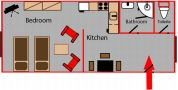 Accommodation Service Hastalska - Apartment 11 Floor plan