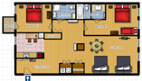 Your Apartments - Riverview Apartment 5E Floor plan