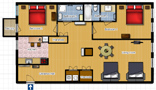 Your Apartments - Riverview Apartment 11I Floor plan