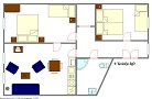 EUA, s.r.o. - V Lesicku Left Floor plan